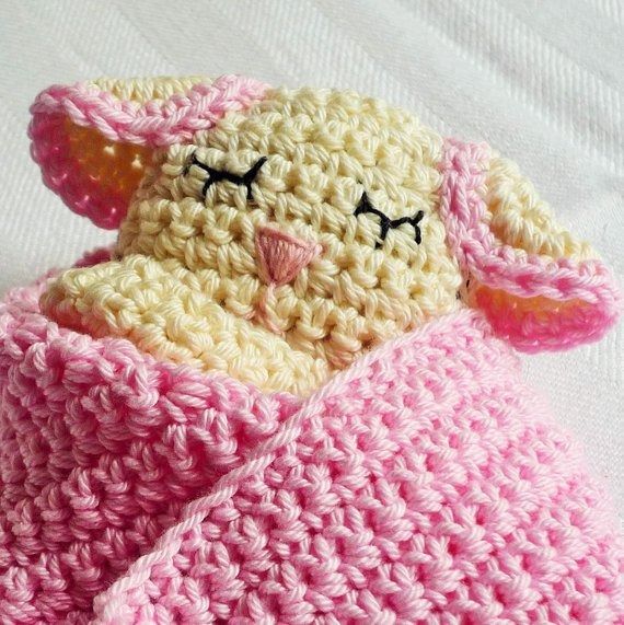 Sheep Baby Lovey Blanket Pattern