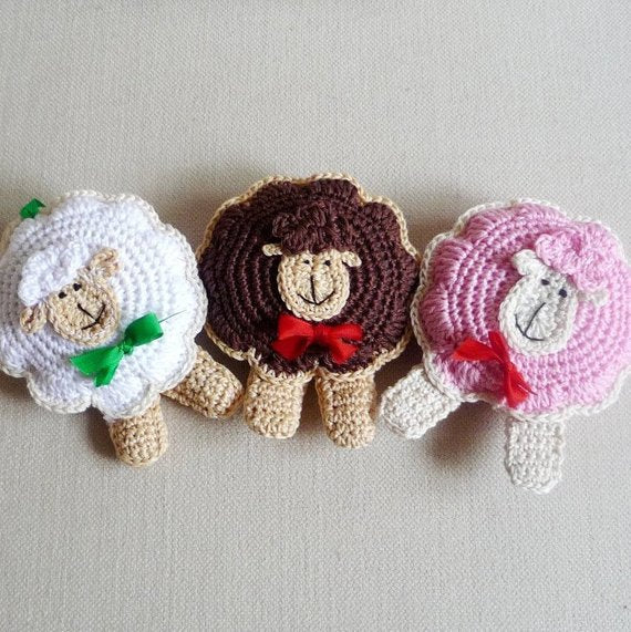 Crochet Sheep Ornament Pattern for Beginners