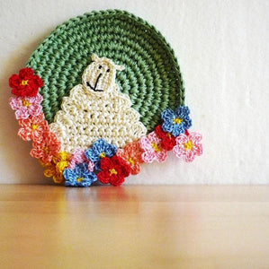 Sheep Crochet Coasters