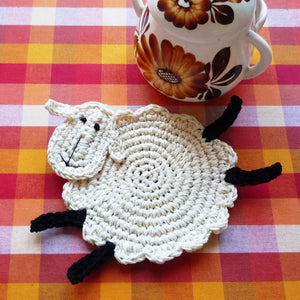 Crochet Sheep Coaster Pattern for Beginners