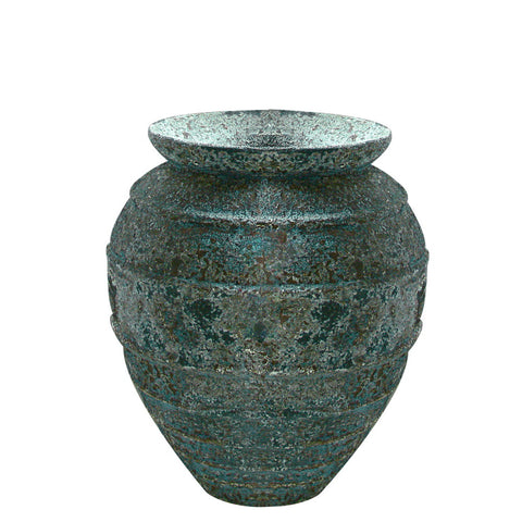 Honey Jar large verdigris glaze