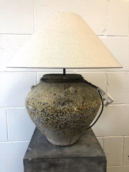 Olive Pot Table Lamp
