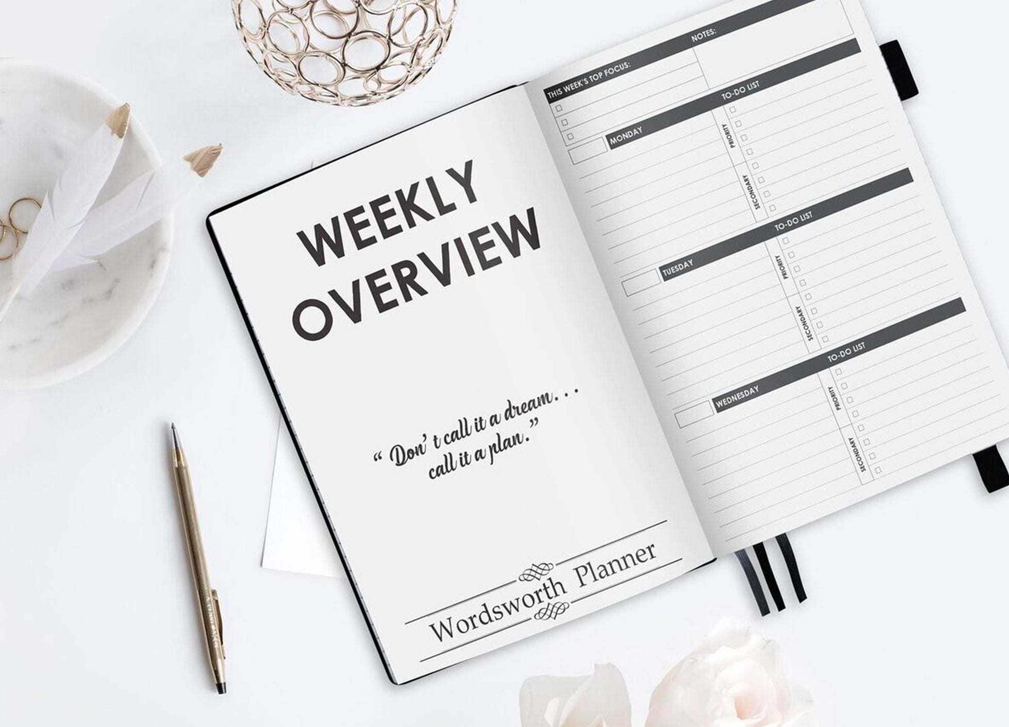 weekly overview planner