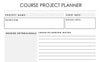 Course Project Planner
