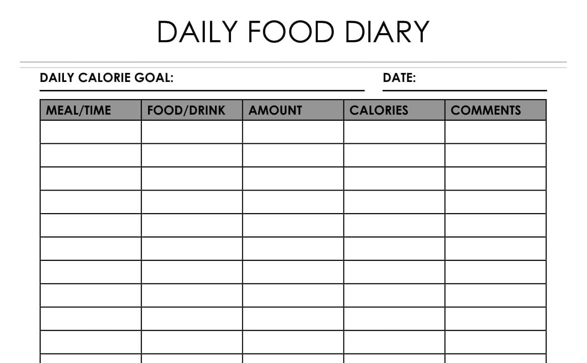 Daily Health Planner - Daily Food Diary & Fitness Journal - Wordsworth  Planner