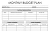 Monthly Budget Planner