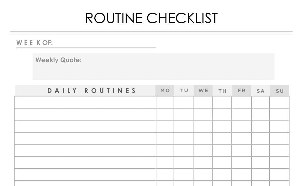 graphic relating to Daily Goals Checklist named Program List (Day by day Weekly) - Weekly Function Planner