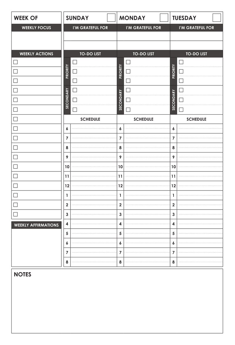 graphic about A5 Planner Printables titled Cost-free DOWNLOADS - Wordsworth Planner