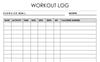 workout log planner