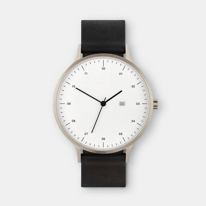 BLACK LEATHER SLAPY WATCH