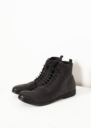 Combat Ankle Boot in Black