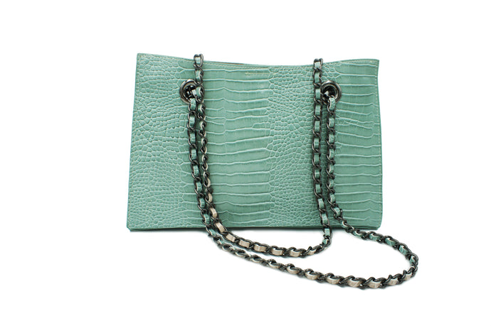 GINA CROCODILE SEA GREEN