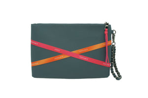 SHAWN RIBBON WRISTLET PETROL