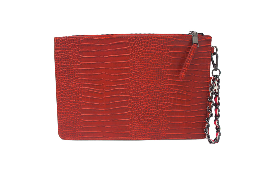SHAWN MIXED TEXTURED WRISTLET RED
