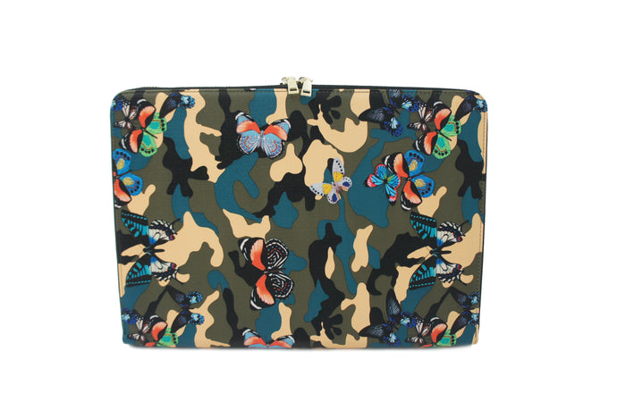 BUTTERFLY CAMOUFLAGE LAPTOP CASE