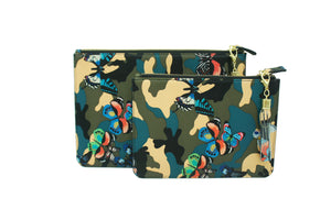 SHAWN BUTTERFLY CAMOUFLAGE BLUE WRISTLET