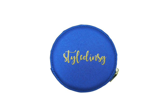 GLITTER COIN PURSE BLUE