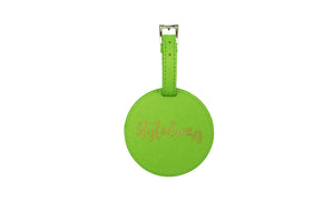 GLITTER LUGGAGE TAG GREEN