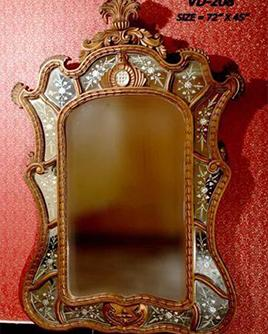 Wooden frame mirrors