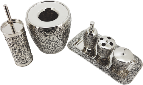 SULTANATE - 703 'Embossed Antique Silver Finish'