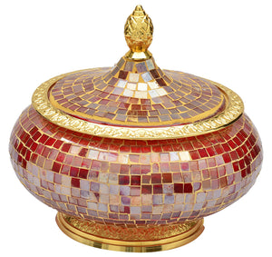 The Home Box With Lid Red Gold 13134-Bag-LB