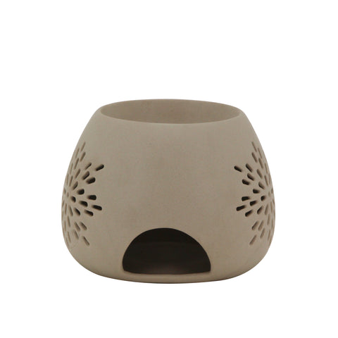 The Home Ceramic Taupe Round Shape Oil Burner