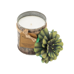The Home Tin With Hibiscus Flower Candle-THS-2