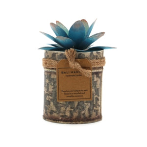 The Home Tin With Lotus Flower Candle-TLS-2
