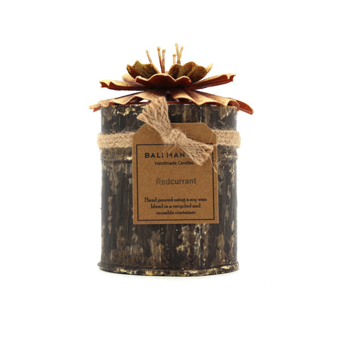 The Home Tin With Orange Hibiscus Candle -THS-1