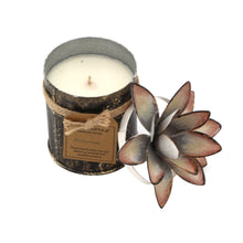 Load image into Gallery viewer, The Home White GLD Tin With Lotus Candle-TWC-8