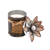 The Home White GLD Tin With Lotus Candle-TWC-8