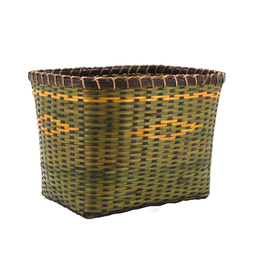 The Home Basket RRL3B Green Yellow Strips Small