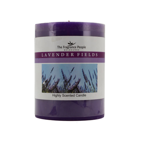 The Home Lavender Fields Medium Pillar Candle (3*4 INCHES)