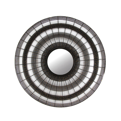 The Home Mirror Round Mesh Grey IR535
