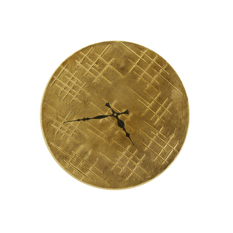 The Home Round Metal Wall Clock Gold
