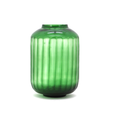 The Home Green Jar Clear With Strip Small