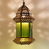 The Home Hanging Lantern Antique Brass Big AA01