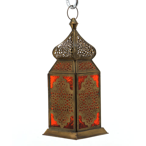 The Home Hanging Lantern Antique Brass F42-02
