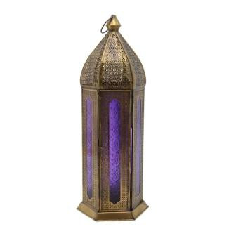 The Home Hanging Lantern Antique Copper G188 Purple