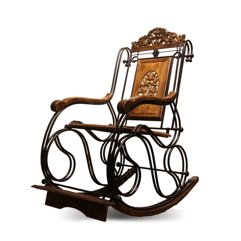 The Home Wooden & Iron Rocking Chair