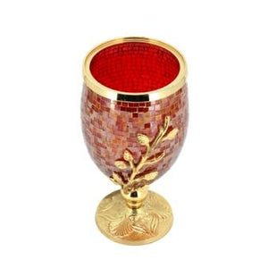 The Home Vase Red Gold 13134-Beg-Sag