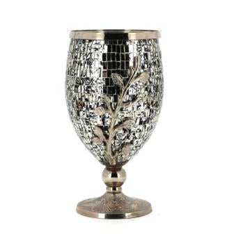 The Home Vase Black Sliver 13134-Oko-LB