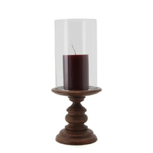 Load image into Gallery viewer, The Home Wooden Pillar Holder With Glass-VI-8777