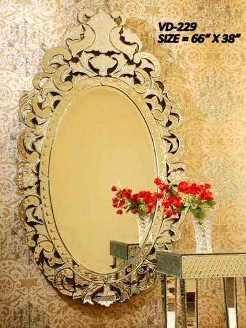 Big Oval Venetian Mirror VD-229