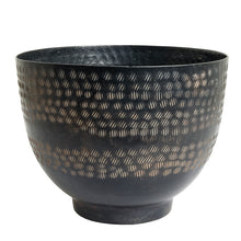 Load image into Gallery viewer, The home Bowl Hammered Planter Black PC1250-A