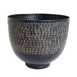 The home Bowl Hammered Planter Black PC1250-B