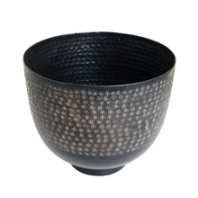 Load image into Gallery viewer, The home Bowl Hammered Planter Black PC1250-B
