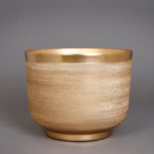Load image into Gallery viewer, The home Bowl Planter Ridged Gold GD1304-B