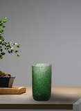 The Home Green Clear Flower Cut Vase