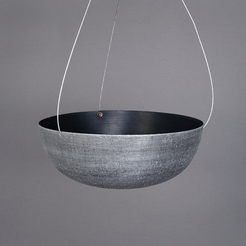 The Home Hanging Pot Planter Black Small 1534-B